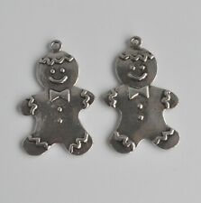 5 x Gingerbread man pendants/charms. Craft/jewellery/Christmas Decorations. UK