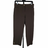 Chico's Zenergy Brown Capri Casual Pants sz 0 or 4 Cropped Activewear New NWT