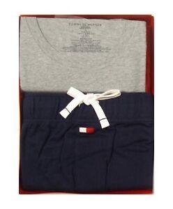 Tommy Hilfiger Men's Gray T-shirt & Navy Jogger Pant Lounge Knit Set Gift Box