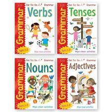 Ks1 Grammar Set of 4 Wipe Clean Work Books Year 1 Ages 5 - 7 Dry Erase Pen