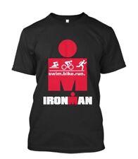 IRONMAN TRIATHLON FINISHER CYCLE RUN SWIM GYM SPORTS WEAR Mens Black T-Shirt NEW