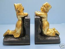Dutch Boy and Girl Bookends Vintage Excellent Condition