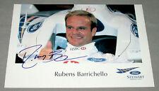 Original Brazilian Rubens Barrichello Formula 1 Driver Signed Racing Photo