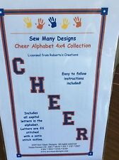 """SEW MANY DESIGNS MACHINE EMBROIDERY-""""CHEER ALPHABET"""" 4 X 4 COLLECTION"""
