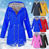 Women's Outdoor Jacket Waterproof Wind Jacket Solid Color Forest Jacket Raincoat
