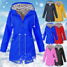 Ladys Long Sleeve Hooded Wind Jacket Lady Outdoor Waterproof Rain Coat Plus Size