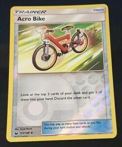 Acro Bike Reverse Holo Pokemon Card - 123/168 Celestial Storm Trainer -Near Mint