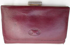 -AUTHENTIQUE  portefeuille-porte-monnaie LE TANNEUR cuir  TBEG vintage 60's