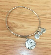 Disney Alex and Ani Silver Tone Beauty and the Beast Energy Bracelet With Charms