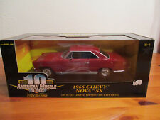 1:18 Ertl American Muscle 1966 Chevy Nova Ss NUOVO conf. orig.
