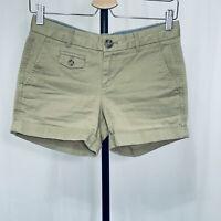 """Banana Republic Shorts Size 0 Petite City Chino Low Rise Cuffed  4"""" Inseam"""