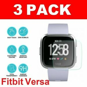 3X Genuine TEMPERED GLASS Screen Protector For Fitbit VERSA-Fitness Smart Watch