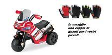 Peg Perego MOTO Ducati Desmosedici 3 Ruote 6 VOLT ED0919 2 GUANTI BIMBO OMAGGIO