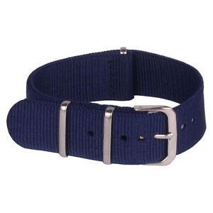 Navy Blue 16mm 18mm 20mm 22mm 24mm Watchband Nylon Watch Strap Wristwatch Band
