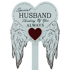 Special Husband Graveside Memorial Angel WIngs Tribute Grave Stick Marker 76165