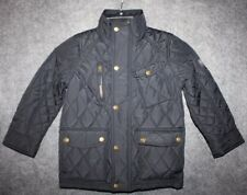 Joules Boys' Stafford Quilted Coat Marine Navy Toddler Boys 5 Years
