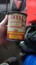 SHELL 1 lb grease drum tin small OIL  oil bottle petrol sign