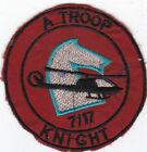US Army A Troop 7th Squadron 17th Air Cavalry Knights Vietnam Patch #7