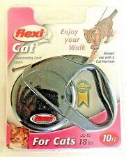 BNIP Flexi Cat Retractable Cord Cat Leash Durable 10 ft Small Up to 18 lbs Black