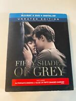 Fifty Shades of Grey w/ Slipcover (Bluray/DVD, 2015) [BUY 2 GET 1]