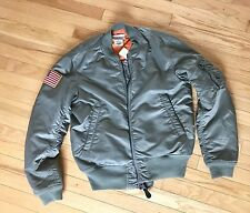 Ralph Lauren Ma-1 Flight, Bomber Green Military Jacket, Size M, Denim&supply
