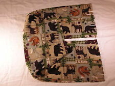 Bear Moose Squirrel Reindeer Fleece Scarf