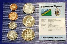 Solomon Islands 1 cent - 1$ 2005 XF UNC Circulation Coin Set - World Currencies