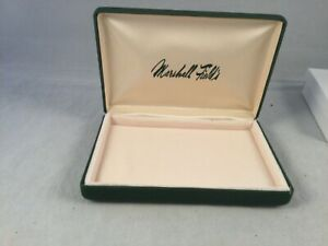 Vintage clam box presentation jewelry box Marshall Field's w outer box