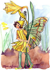 ACEO Limited Edition - Daffodil flower fairy inspired by CM Barker
