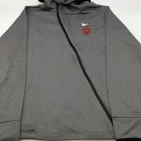Indiana Hoosiers Holloway Womens Artillery Angled Hooded Jacket Gray Zip L New