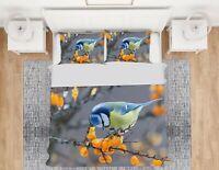 3D Blue Bird ZHUA2058 Bed Pillowcases Quilt Duvet Cover Set Queen King Zoe