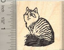 Siberian Cat Rubber Stamp G10615 Wm