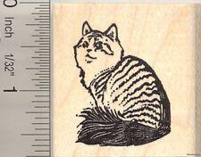 Siberian Cat Rubber Stamp G10615 WM