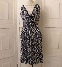 Anthropologie Career Surplice Dress By Fei Size M Geometric Sleeveless Shift