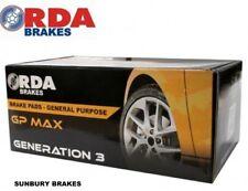 Fits TOYOTA Landcruiser  Brake pads 100series 1999 on  Front RDA GP MAX