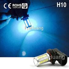 2X LED H10 DRL Fog Driving Light Bulbs 9145 9140 Ice Blue 12V