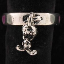 RING Tweety Bird WARNER BROS LOONEY TUNES Silver PURPLE HEARTS WB STORE 5837