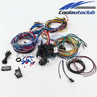 21 Circuit Wiring Harness 17 Fuses Street Hot rod Universal Wire Kit GM color