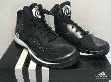 Adidas Mens Size 5.5 D Rose 773 III Black White Basketball Training Shoes