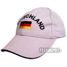Deutschland Cap Light Grey/Black mit Stick WM EM