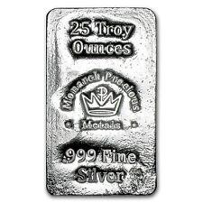25 oz Silver Bar - Monarch Precious Metals - SKU #103131