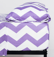 Cosy House Collection Chevron Zig Zag Striped Pattern Ultra Soft Bed Sheet Set