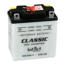 intact Motorradbatterie Batterie 6V 6Ah 00611 6N6-3B