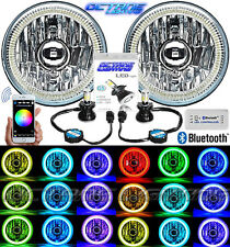 "5-3/4"" Bluetooth Cell Phone SMD Color Change Halo Angel Eye LED Headlights Pair"