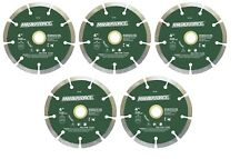 "FIVE(5) - Masonry Segmented Diamond Blade 4"" x .07 Masterforce"