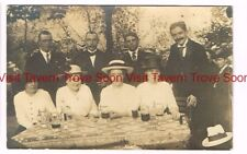 1914 GERMANY Mülheim Restaurant Vier Jahreszeiten Beer Drinking RPPC Postcard