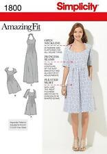 SIMPLICITY SEWING PATTERN MISSES' / WOMEN'S DRESS AMAZING FIT 10 - 28W 1800 SALE