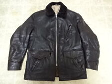 VINTAGE 50'S PERFECT SCHOTT LEATHER CAR COAT 42 GREAT COND JACKET MOTORCYCLE