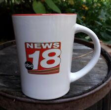 Vintage Channel 18 Mug Local Affiliate ABC News TV Television Coffee Cup 4 1/2""