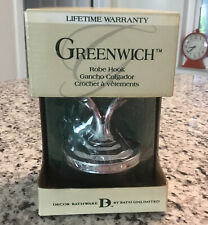 Greenwich Double Robe Hook - Crome Finish  New in Box